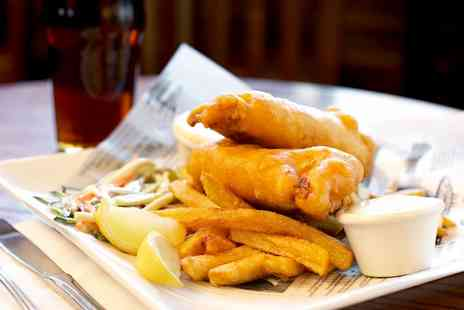 The Mill Bar and Grill - Fish and Chips with a Pint for Two or Four - Save 0%