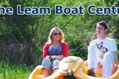 Leam Boat Centre - One Hour Pedalo or Rowing Boat Hire For Family of Four - Save 50%