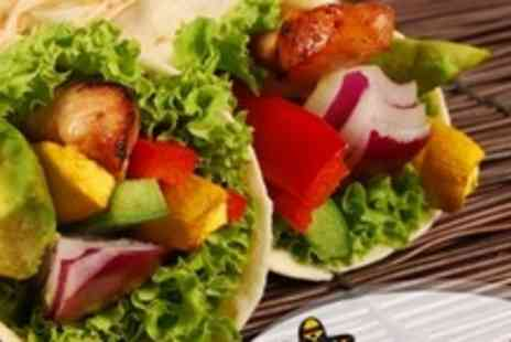 Chicos - Two Courses of Mediterranean Mexican Fare Plus Tequila For Two - Save 51%