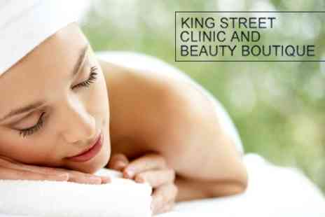 King Street Clinic - Choice of Facial and Massage With Skin Analysis and Mapping for £49 - Save 74%