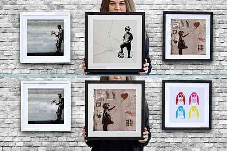 Who Art Now - 25cm x 25cm Banksy print or 38cm x 38cm print choose from 32 designs - Save 76%