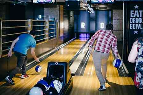 Roxy Lanes - Family Bowling Package with Food and Drinks for Four or Six - Save 40%
