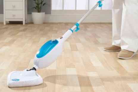 Groupon Goods Global GmbH - Easy Steam Mop in Choice of Colour with Three Additional Pads Includes Free Delivery - Save 71%