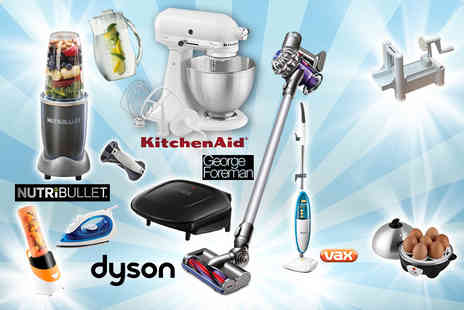 SA Products - Mystery kitchen gadget deal include Nutribullet, Dyson V6 vacuum, George Foreman grill, Tower egg cooker, spiraliser and more - Save 0%