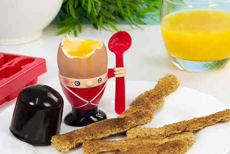 iThink Gadgets - Buy 1 or 2 Soldier Egg Cup & Soldier Toast Cutter - Save 53%