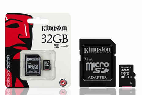 Moby Memory - Kingston 32GB MicroSD Class 10 Plus Adapter - Save 0%