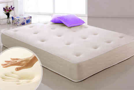 Hotbuyer - Single, double king size memory sprung mattress - Save 83%