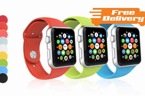Eblacksquare - Apple Watch Compatible Silicone Replacement Band Free Delivery - Save 50%