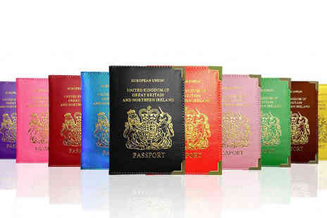 Fakurma UK - PU Leather Passport Holder in 16 Colours - Save 90%