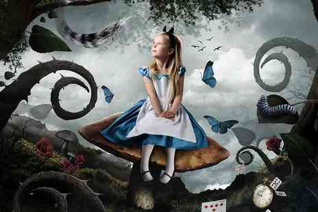 Pop Photography - Alice in Wonderland themed photoshoot for one child including a mug and two keyrings - Save 93%