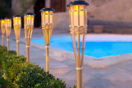 ViVo Technologies - Two solar bamboo torch lights - Save 75%