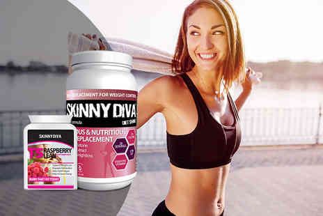 Skinny Diva - Pinch an Inch bundle including T5 raspberry lean capsules and a meal replacement shake - Save 0%