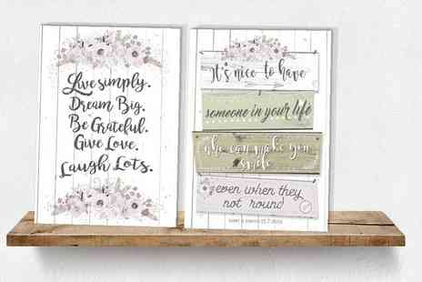 "You Frame International - 12"" x 16"", 10"" x 30"", 20"" x 30"" or 30"" x 40"" personalised love quote canvas - Save 80%"