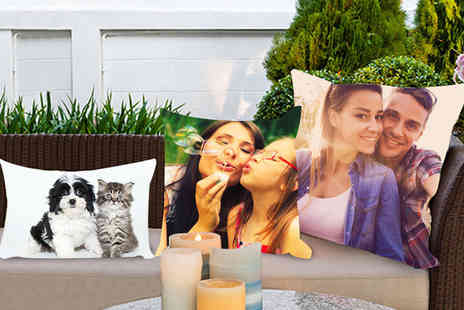 Dip Into Sales - Personalised photo cushion choose from four sizes - Save 60%