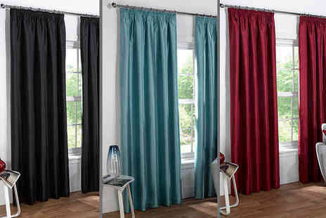 Linens R Us - Pair of faux silk Sophia curtains choose your size and colour - Save 57%
