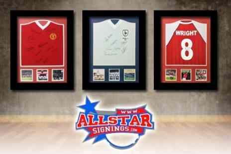 All Star Signings - Choose One of Five Signed and Framed Football Shirt for £159 - Save 60%
