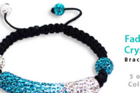 Gifts 4 U - Fading Crystal Bar Bracelet in a Choice of Five Colours - Save 73%