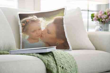 Photo Gifts - One, Two, Three or Four Personalised Photo Cushions - Save 78%