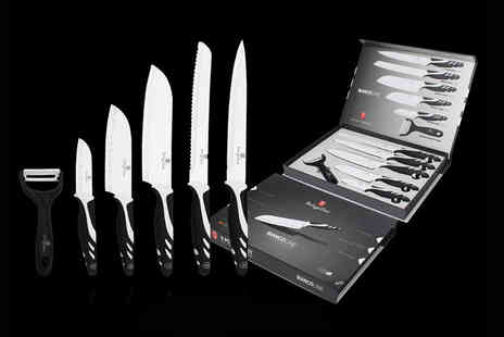 Wowcher Direct - Six piece Berlinger Haus culinary set Choose black, red or grey - Save 92%
