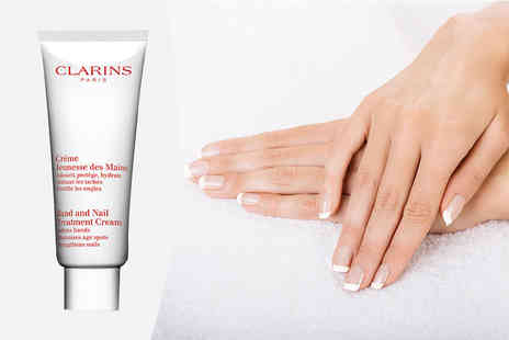 Deals Direct - 100ml bottle of Clarins hand and nail treatment cream - Save 27%