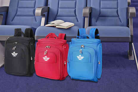 Luggage Travel Bags - Expandable carry on backpack choose from blue, red or black - Save 78%