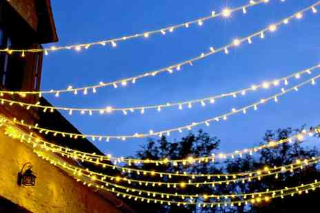 Wowcher Direct - String of 100 White Solar Lights - Save 77%