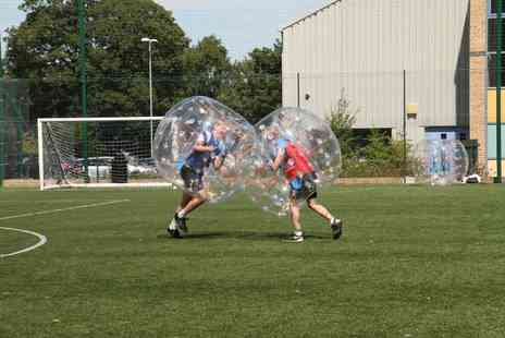 M & R EVENTS - One Hour Bubble Football Session for Up to 15 Players - Save 40%