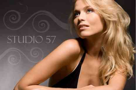 Studio 57 Hair & Beauty - Half Head Highlights, Blow Dry and Nail File and Polish for £28 - Save 61%