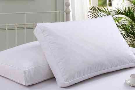 Groupon Goods Global GmbH - 2, 4 or 8 Dickens Box Wall Duck Feather Pillows - Save 78%