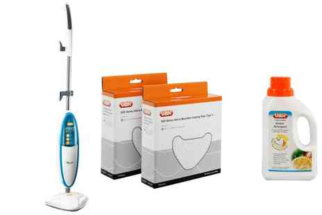 Groupon Goods Global GmbH - Vax Upright Hard Floor Master S2C Steam Mop With Accessories With Free Delivery - Save 72%
