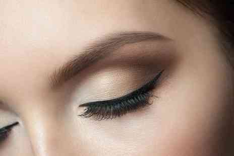 HMB Salon - Full set of natural semi permanent eyelash extensions or extra thick lashes or Russian volume lashes - Save 75%