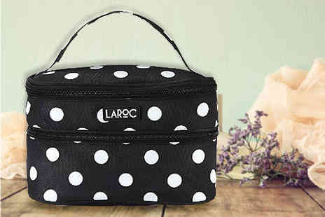 Afracopo - Polka dot travel cosmetics bag - Save 74%