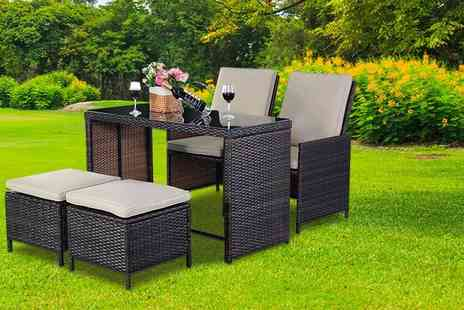 FDS Corporation - Five piece rattan patio set - Save 75%