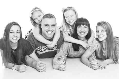 J. Photographers North East - One Hour Photoshoot for Up to Six with Three Prints - Save 0%