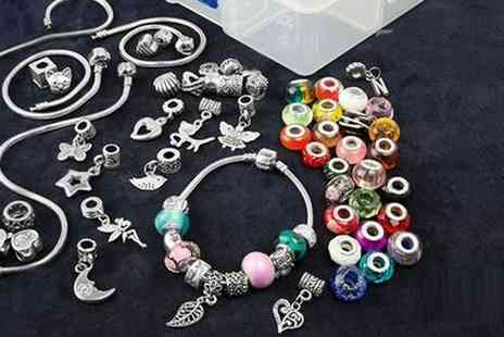 Groupon Goods Global GmbH - Small or Large Charm Kit to Make Two or Five Bracelets - Save 80%