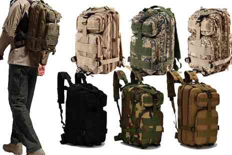 Groupon Goods Global GmbH - 25L Military Rucksack in Choice of Design - Save 0%