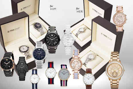 Wowcher Direct - Luxury mystery watch for him or her get a simply stunning Tag Heuer, Micheal Kors, Emporio Armani and more - Save 0%