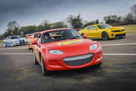 Car Chase Heroes - Three lap junior driving experience in a Disney Pixar Lightning McQueen style race car - Save 51%