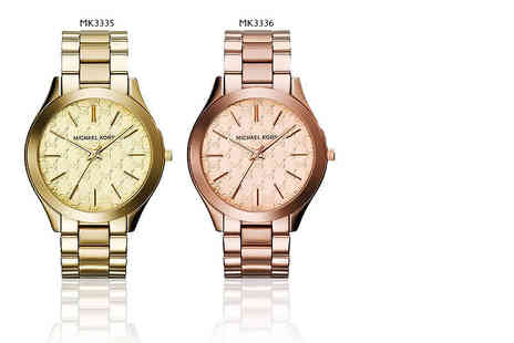 Deals Direct - MK3335 or MK3336 Michael Kors watch choose from gold or rose gold colours - Save 35%