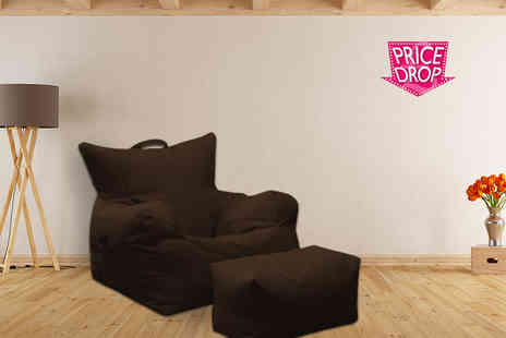 Changing Sofas - Large beanbag chair with footstool - Save 70%