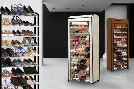 Groupon Goods Global GmbH - 30 or 50 Pairs Shoe Rack With or Without Cover - Save 0%