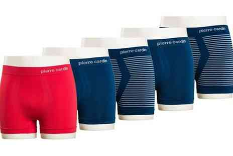 Groupon Goods Global GmbH - One or Two Five Packs Pierre Cardin Seamless Boxer Shorts in Choice of Colours and Sizes - Save 0%