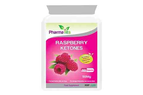 Groupon Goods Global GmbH - One ,Three or Six Month Supply of 600mg Pharmavits Raspberry Ketones Complex - Save 83%