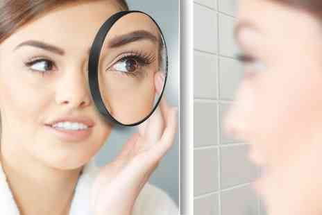 Groupon Goods Global GmbH - One or Two Mini Magnifying Mirrors with Suction Cups - Save 63%