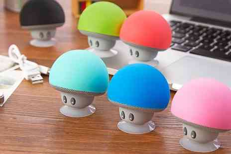 Groupon Goods Global GmbH - One or Two Mini Mushroom Bluetooth Speakers in Choice of Colour - Save 50%