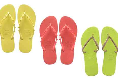 Groupon Goods Global GmbH - Womens Havaianas Flip Flops in Choice of Style and Colour - Save 0%