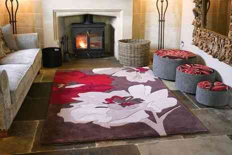 Groupon Goods Global GmbH - Multi Floral Carved Rugs in Choice of Size and Colour - Save 0%