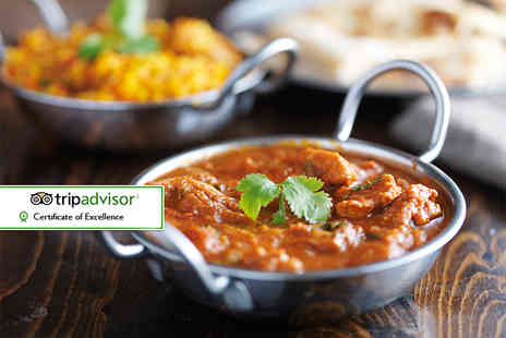 The Moghul - Three course Indian dining for two with a glass of wine each - Save 56%