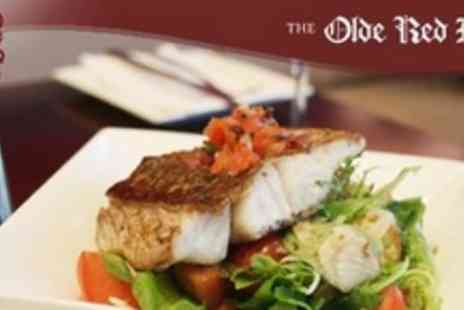 The Olde Red Lion -La Carte Gastro Pub Meal For Two - Save 60%