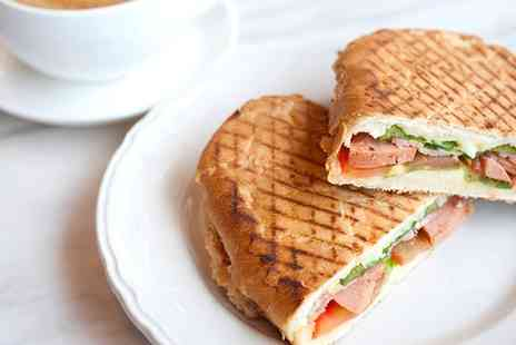 On a Roll - Choice of Sandwich or Panini with Hot Drink for Up to Four People - Save 21%